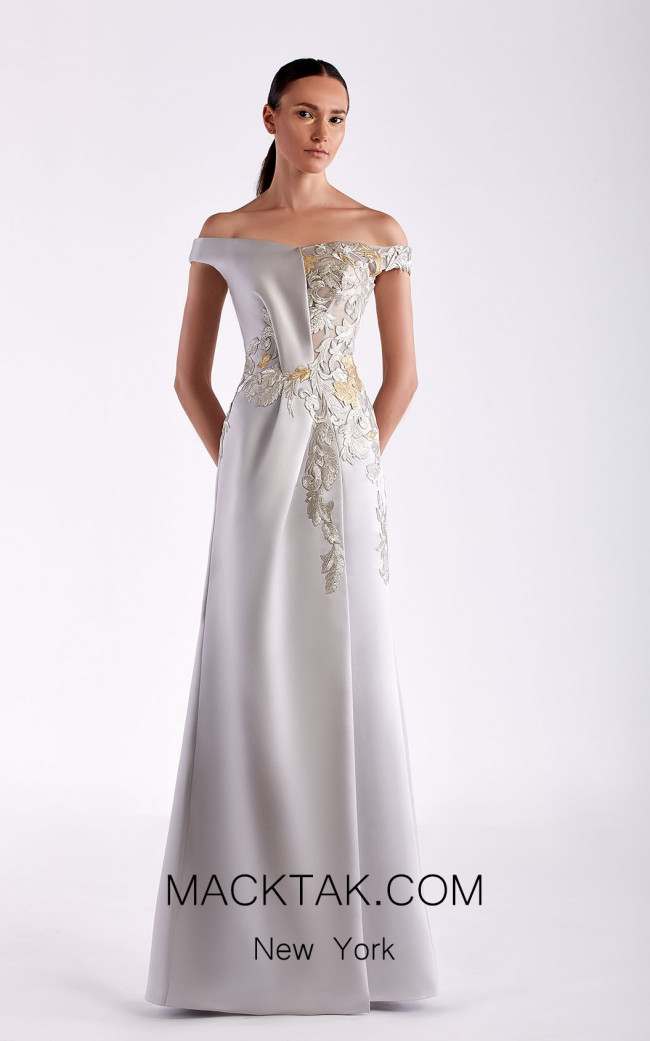 Edward Arsouni SS0465 Silver Front Dress