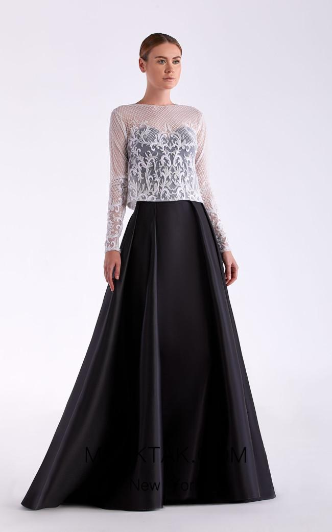 Edward Arsouni SS0473 Black Front Dress
