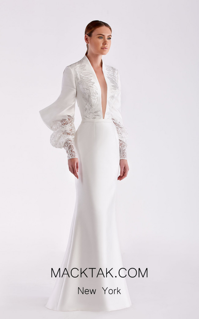 Edward Arsouni SS0477 White Front Dress