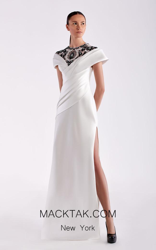 Edward Arsouni SS0479 White Front Dress