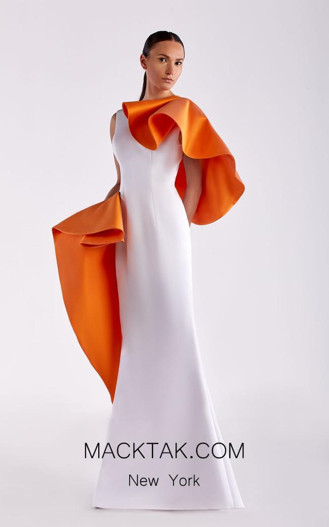 Edward Arsouni SS0480 White Zucca Front Dress