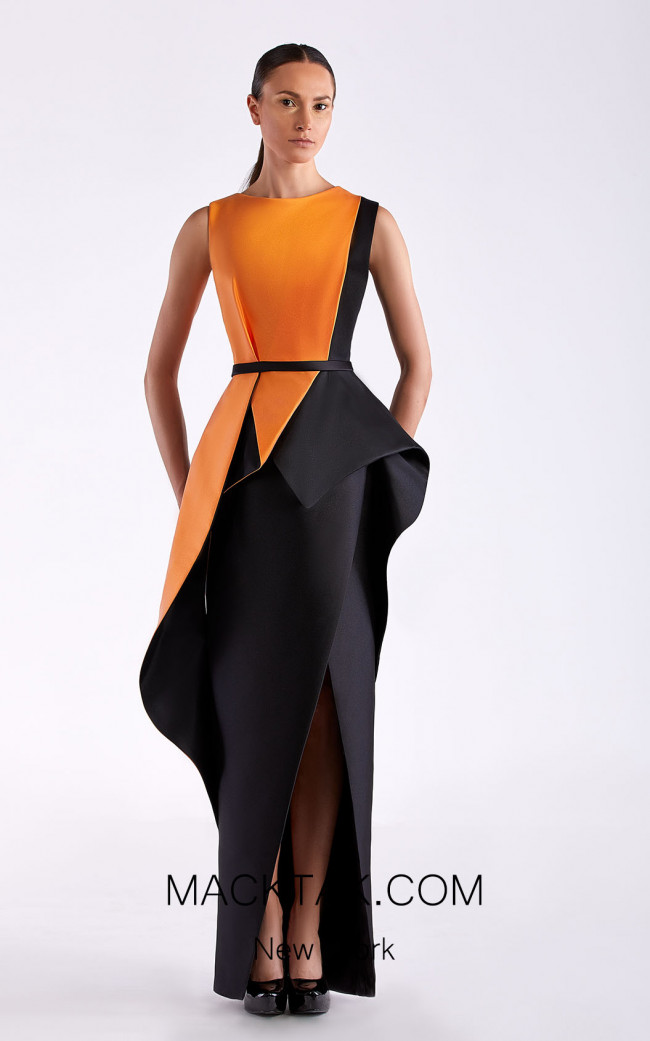 Edward Arsouni SS0485 Clementine Black Front Dress