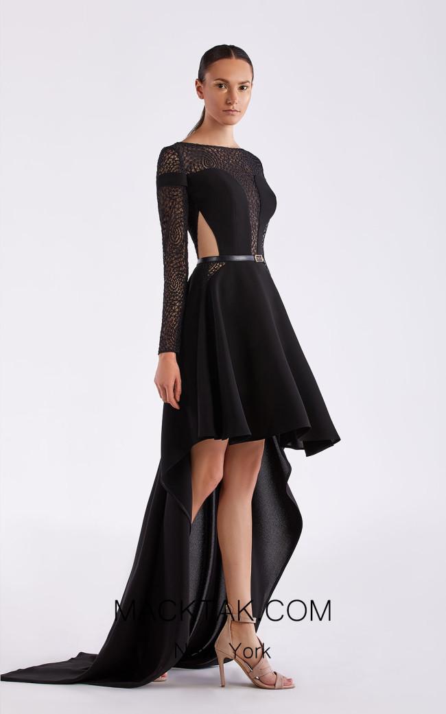 Edward Arsouni SS0487 Black Front Dress