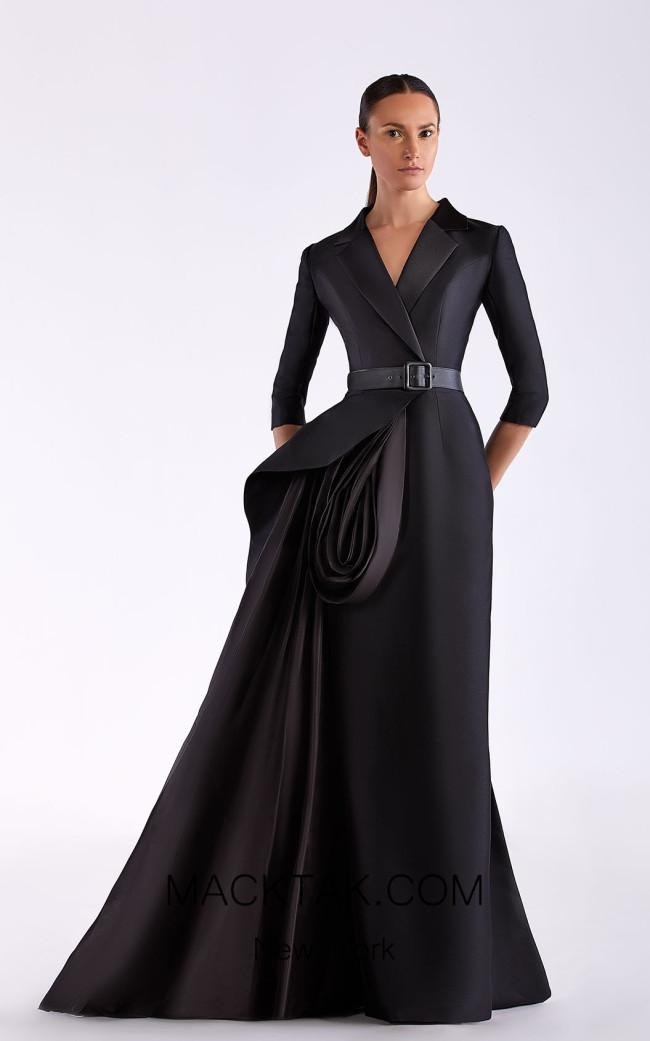Edward Arsouni SS0491 Black Front Dress