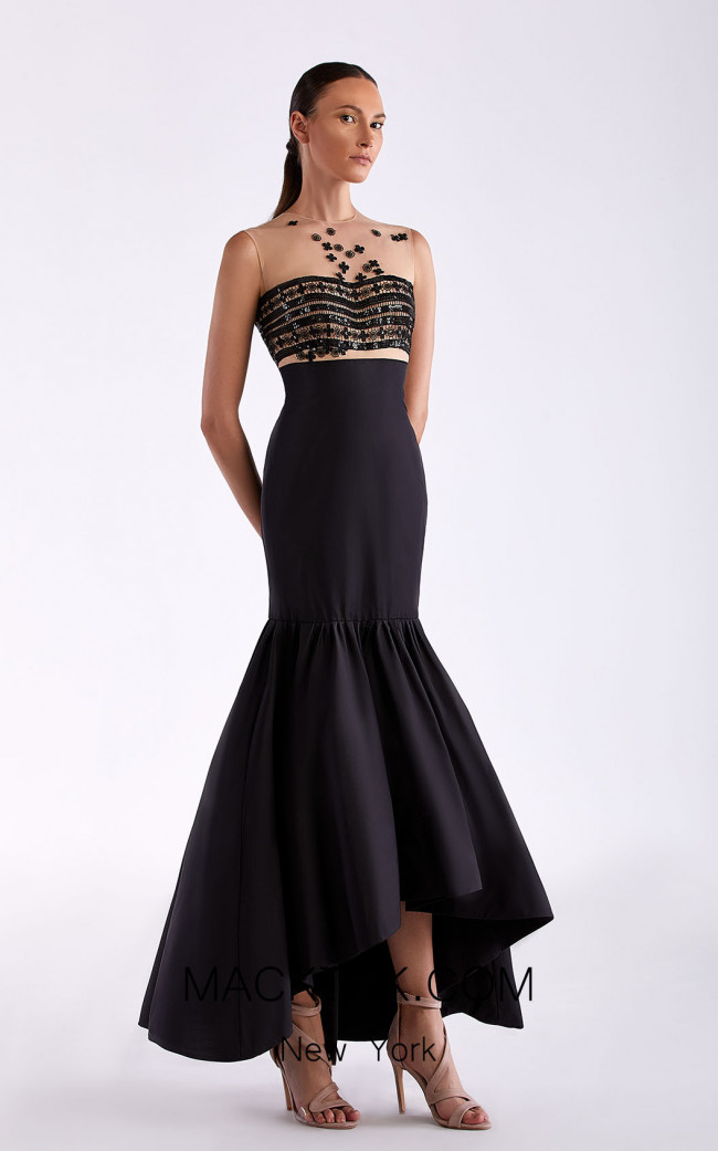 Edward Arsouni SS0493 Black Front Dress