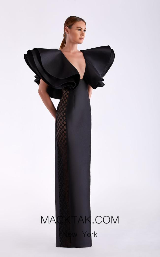 Edward Arsouni SS0495 Black Front Dress