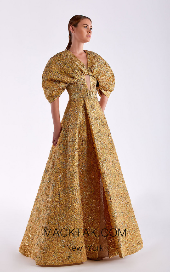 Edward Arsouni SS0502 Gold Front Dress