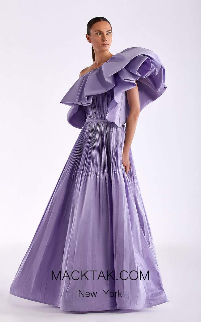Edward Arsouni SS0505 Lavender Front Dress