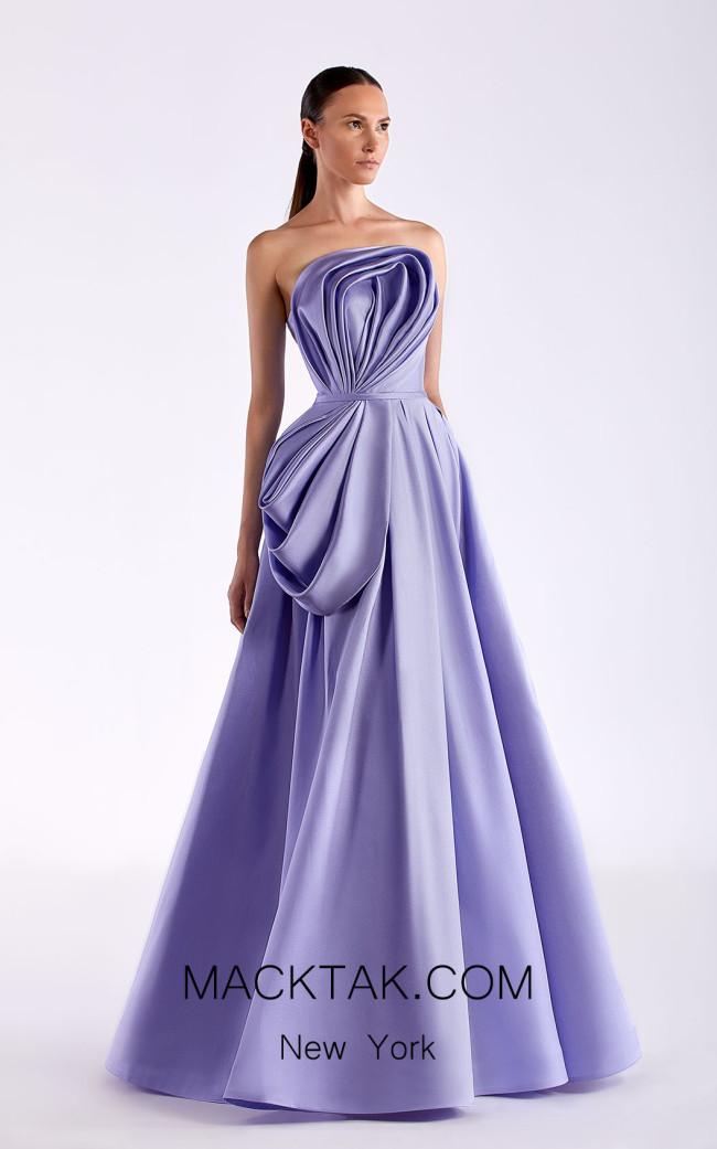Edward Arsouni SS0507 Lavender Front Dress