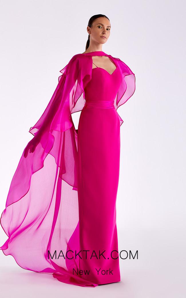 Edward Arsouni SS0510 Fuchsia Front Dress