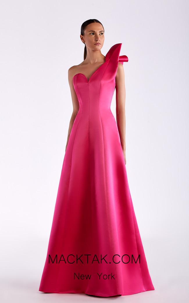 Edward Arsouni SS0511 Fuchsia Front Dress