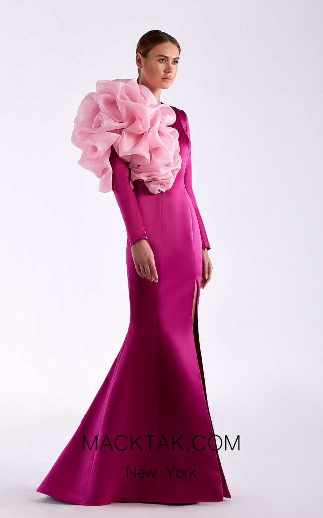 Edward Arsouni SS0514 Violet Front Dress