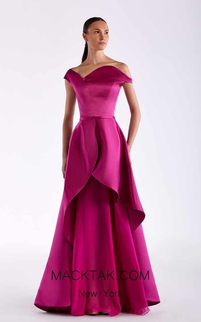 Edward Arsouni SS0517 Violet Front Dress