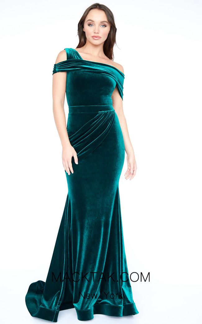 Evaje 10004 Green Front Dress