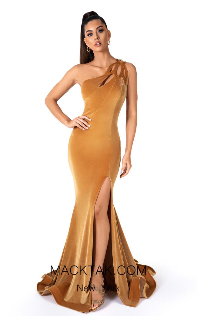 Evaje 10006 Dijon Front Dress