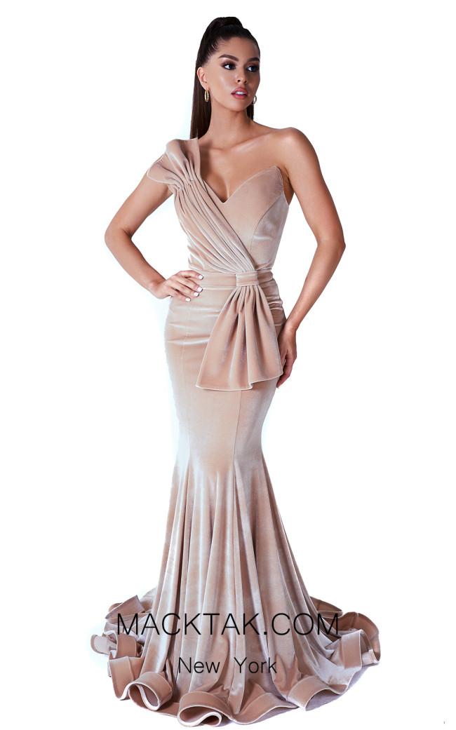 Evaje 10007 Champagne Front Dress