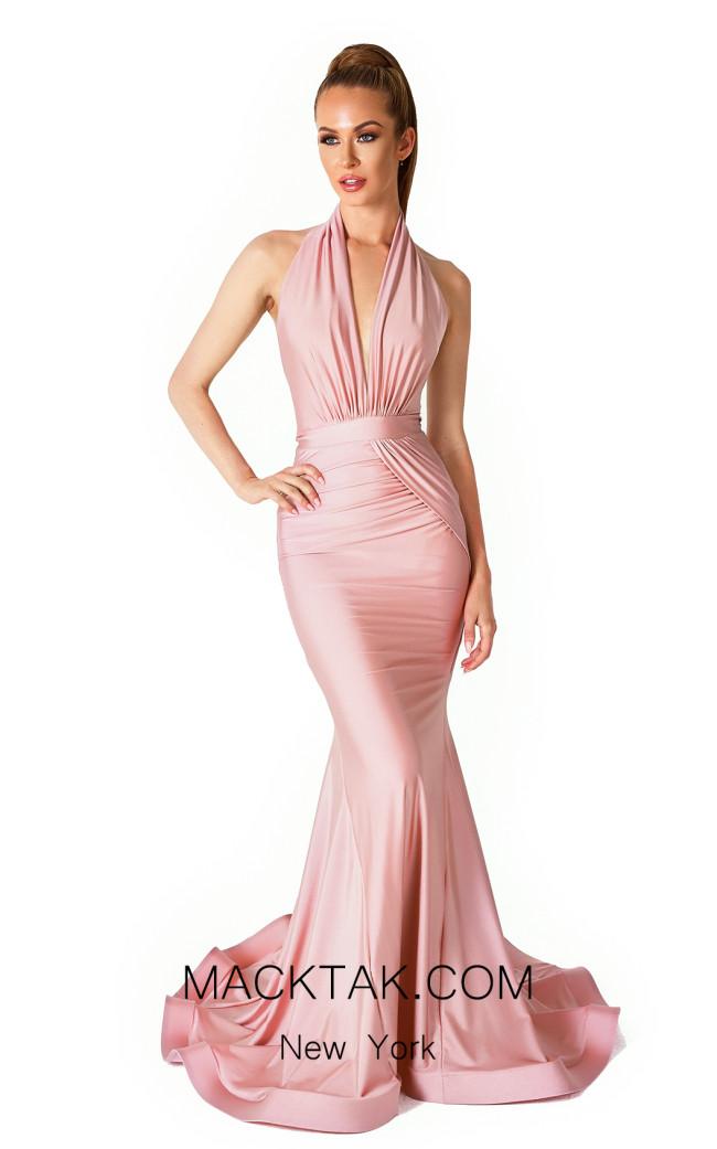 Evaje 10015 Blush Front Dress