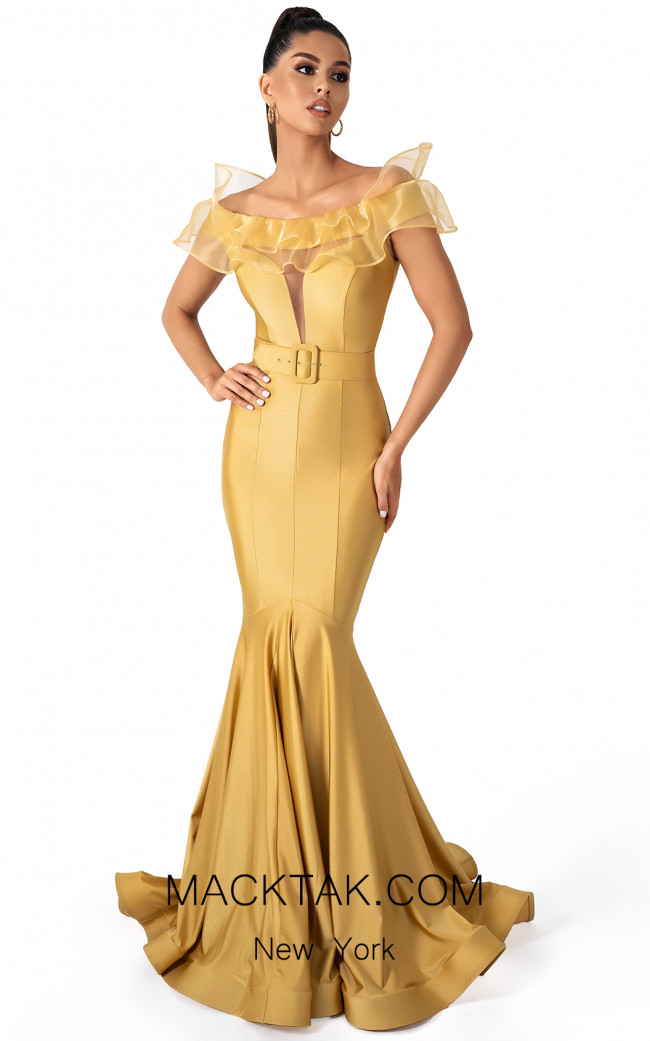 Evaje 10025 Dijon Front Dress