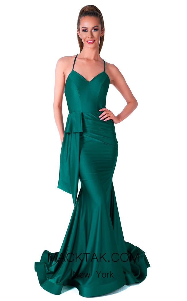 Evaje 10028 Emerald Front Dress