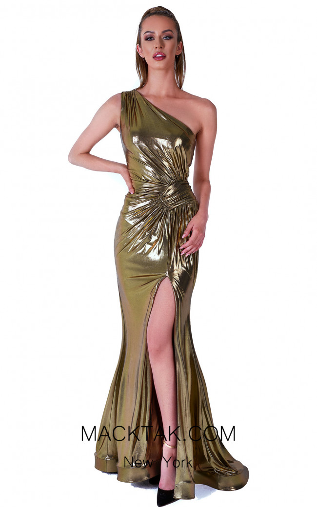Evaje 10034 Dark Gold Front Dress