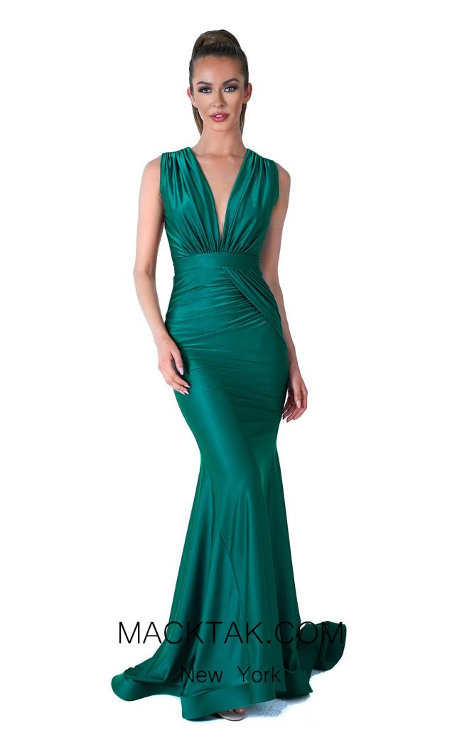 Evaje 10046 Emerald Front Dress