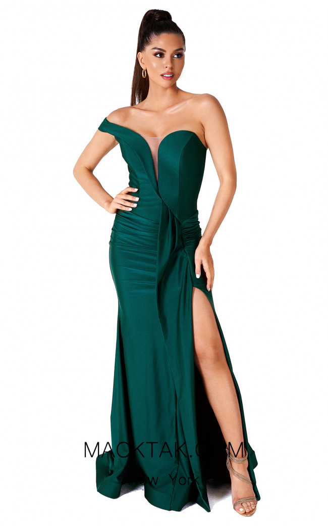 Evaje 10047 Emerald Front Dress