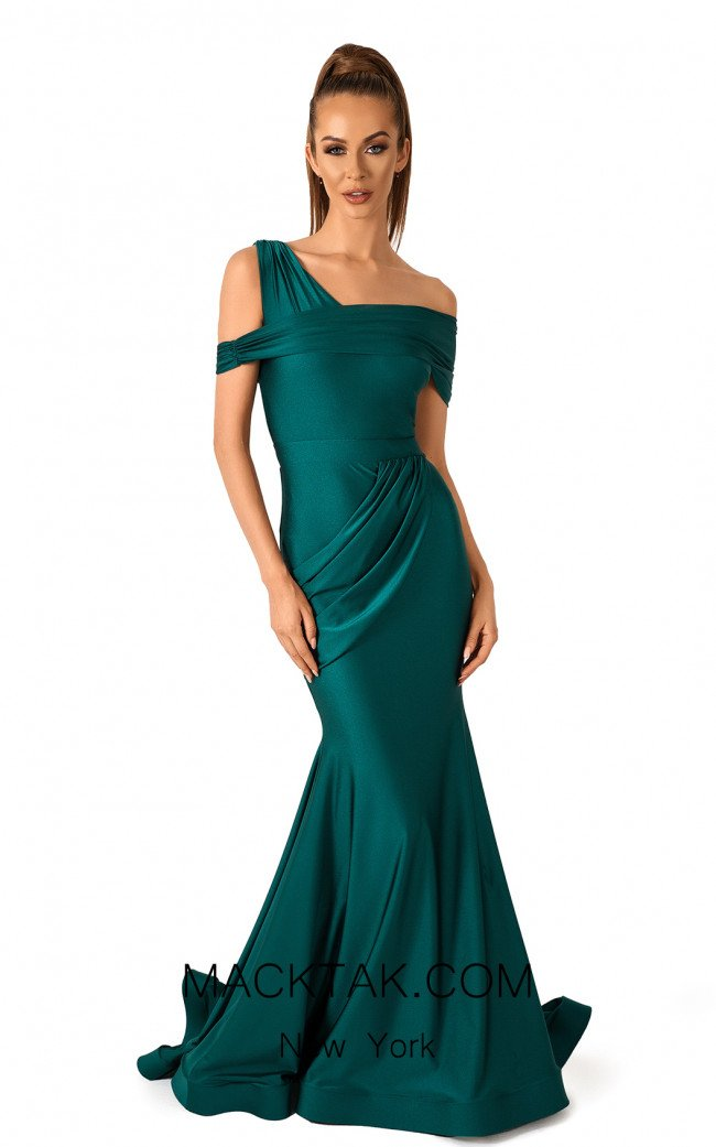 Evaje 10048 Emerald Front Dress