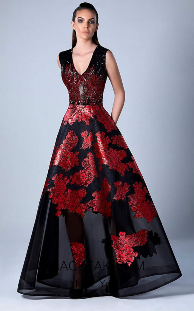 Edward Arsouni 0459 Front Evening Dress