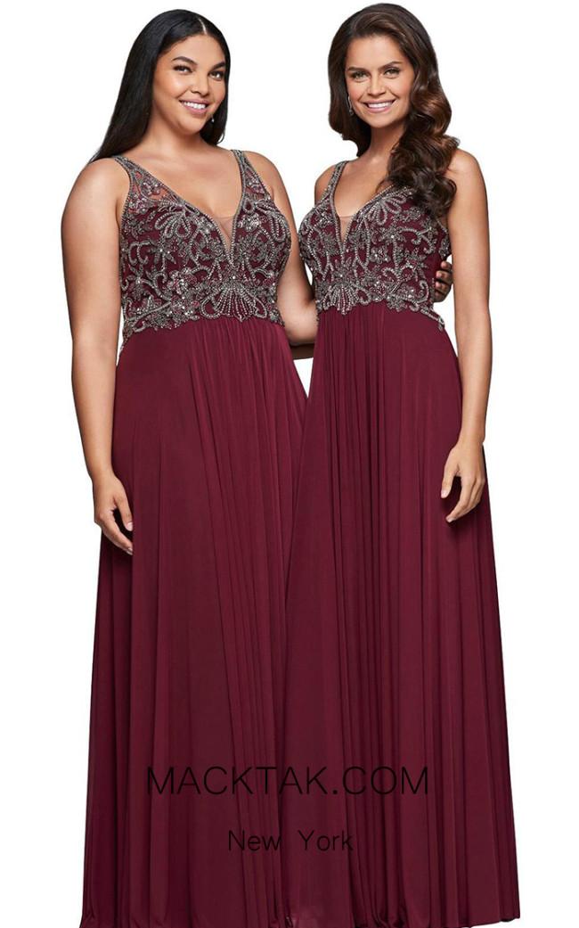 Faviana 9424 Chianti Front Evening Dress