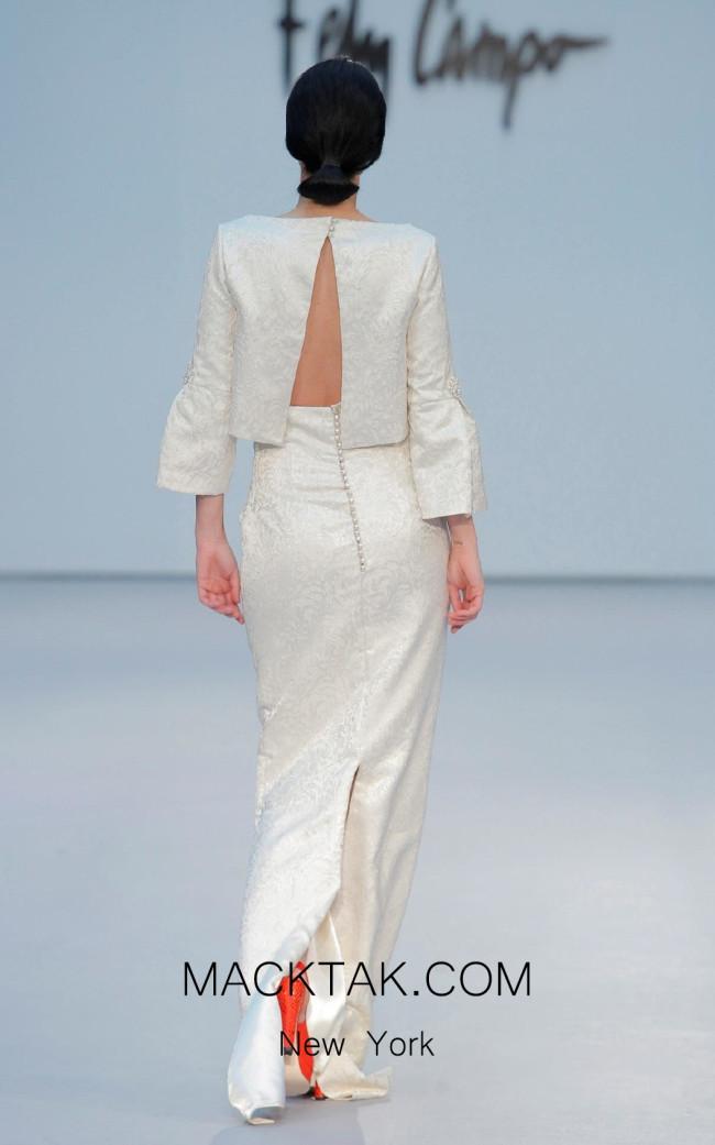 Fely Campo 17301 Back Dress