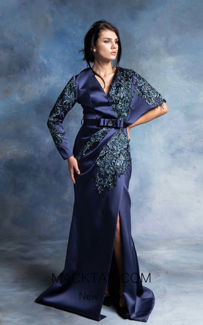 In Couture By Kiwi 4329 Navy Front Dress