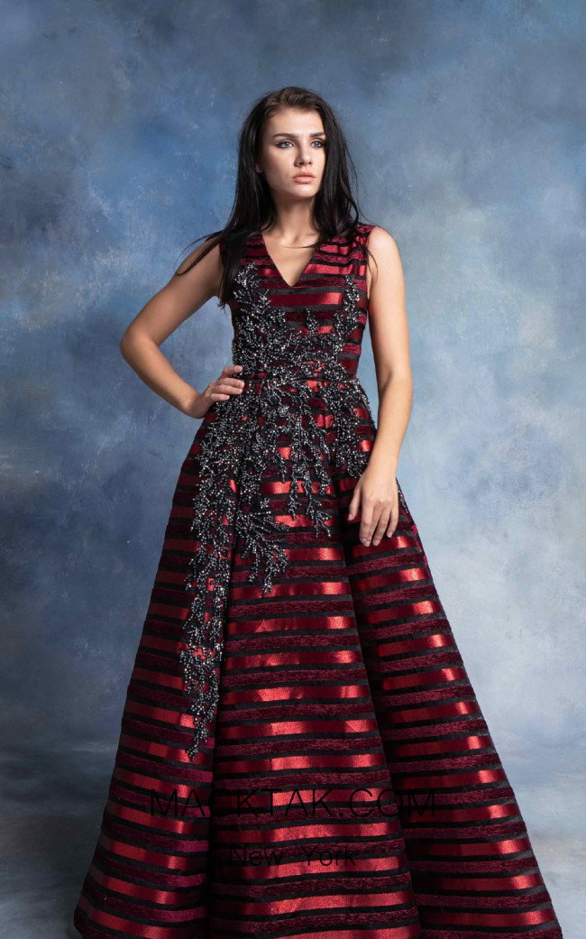 In Couture By Kiwi 4713 Wine Front Dress