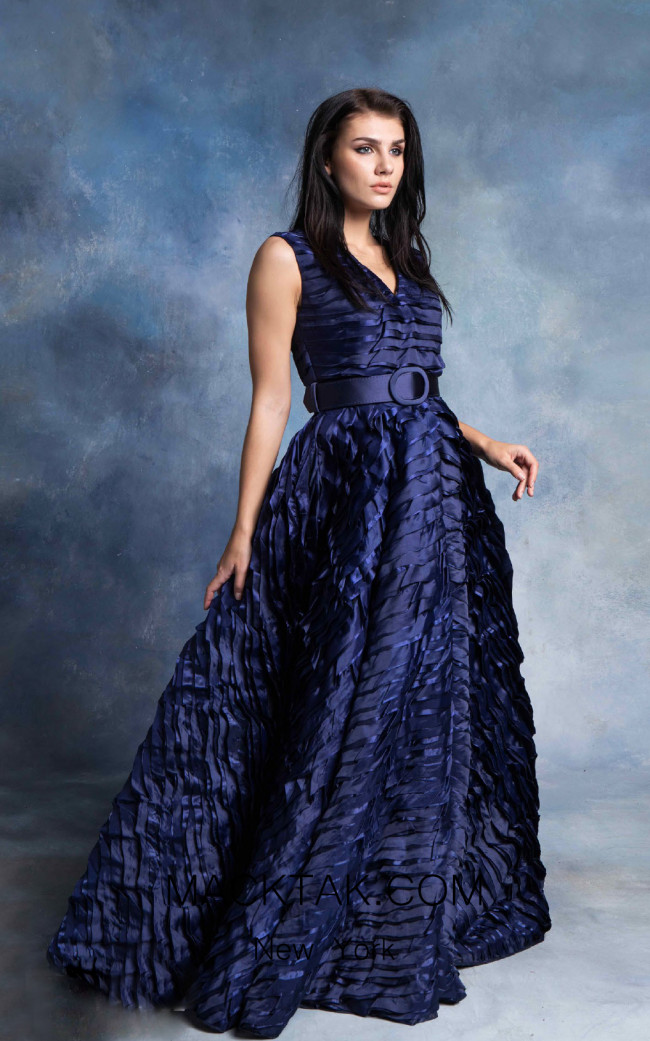 In Couture By Kiwi 4722 Navy Front Dress