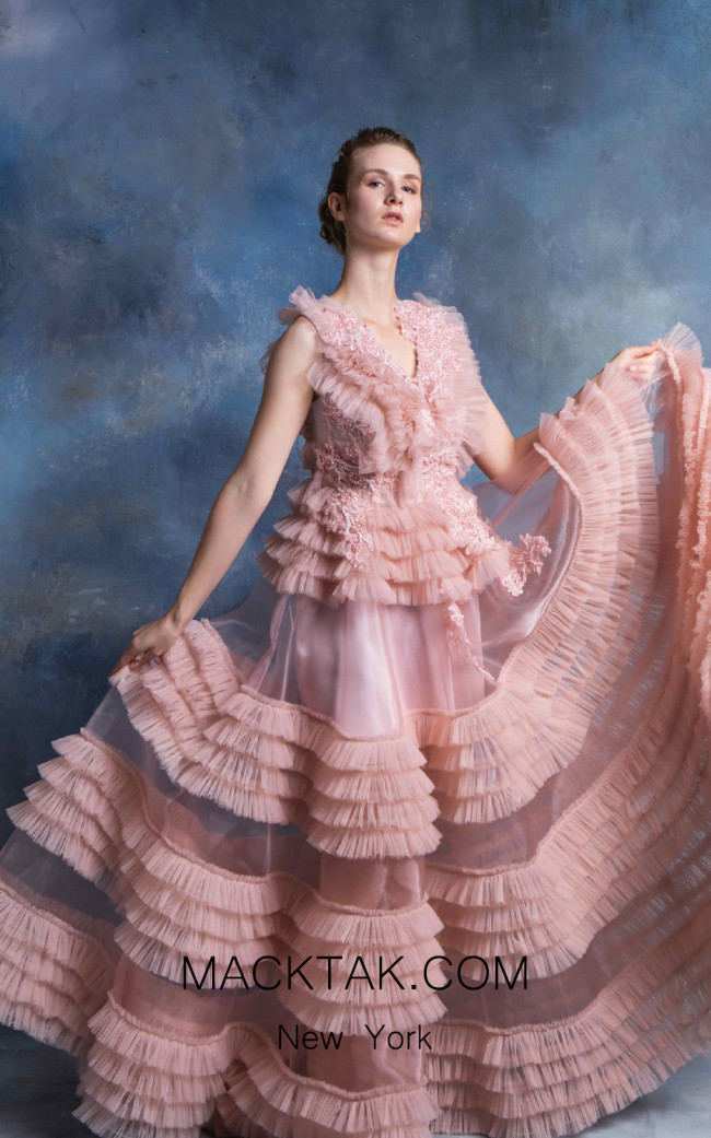In Couture By Kiwi 4749 Pink Front Dress