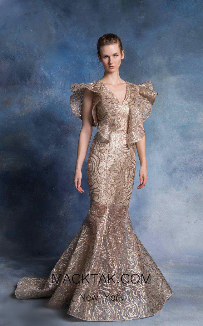 In Couture By Kiwi 4753 Champagne Front Dress