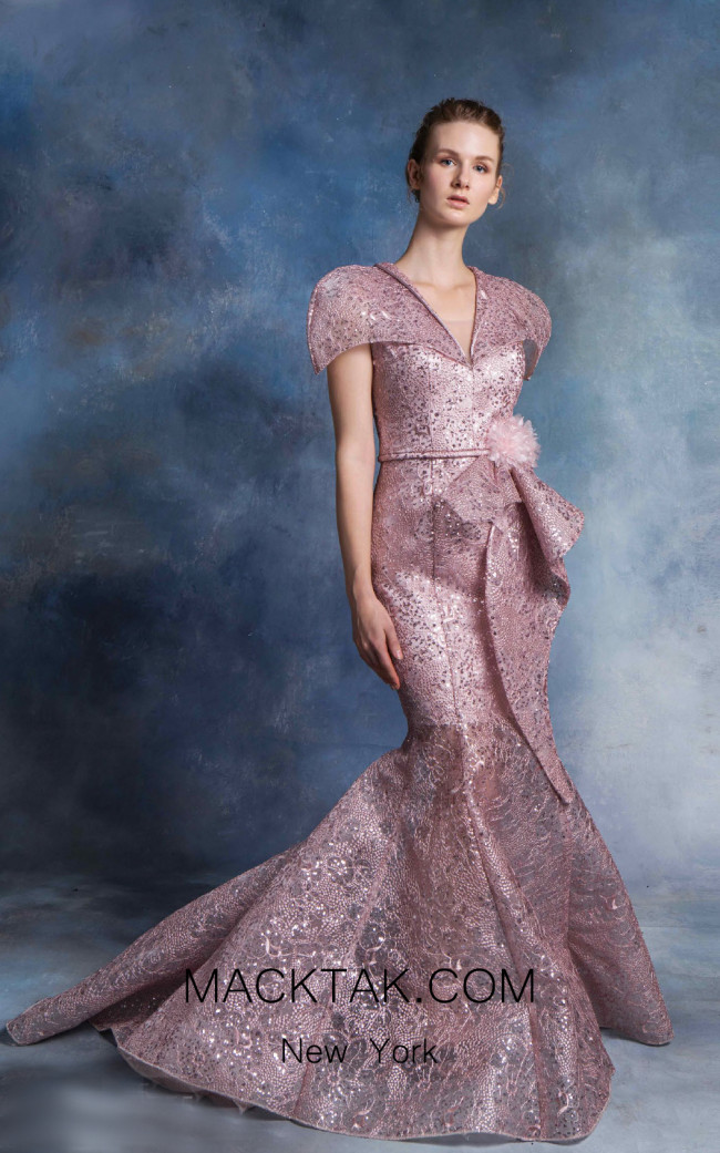 In Couture By Kiwi 4755 Mauve Front Dress