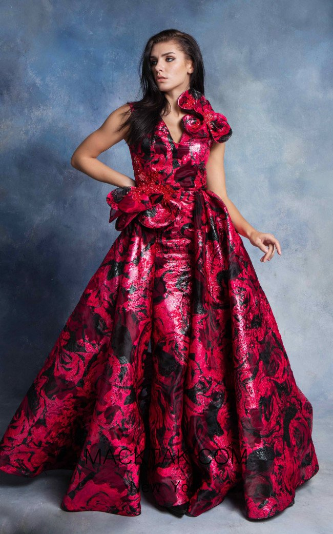 In Couture By Kiwi 4764 Fuchsia Front Dress