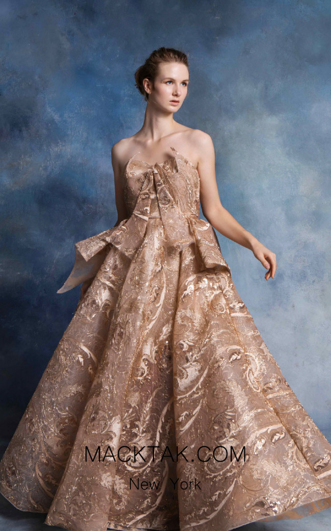 In Couture By Kiwi 4771 Gold Front Dress