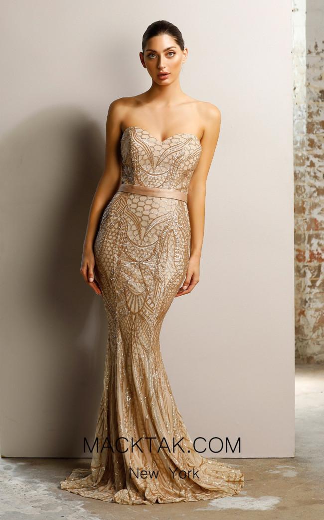 Jadore JX1002 Gold Dress