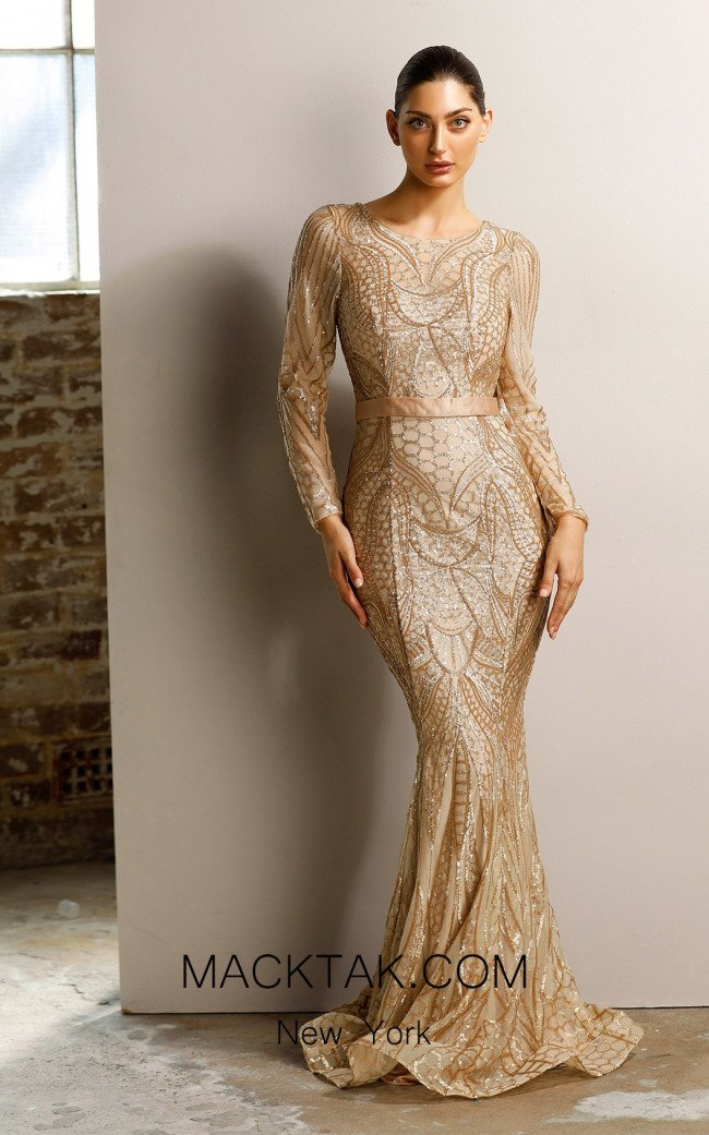Jadore JX1003 Gold Dress