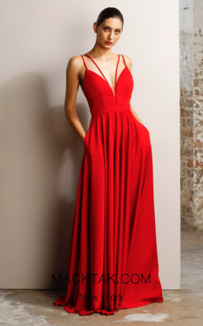 Jadore JX1062 Red Front Dress