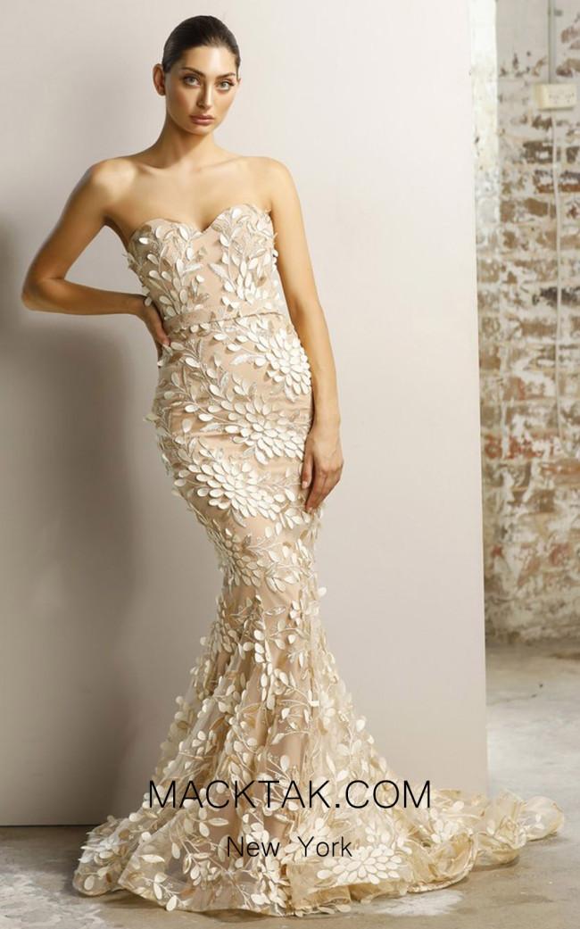 Jadore JX1097 Champagne Front Dress