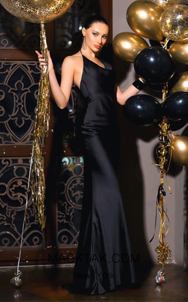 Jadore Australia JP103 Black Front Dress