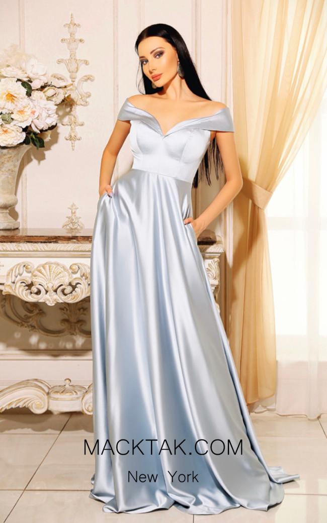 Jadore Australia JP110 Powder Blue Front Dress