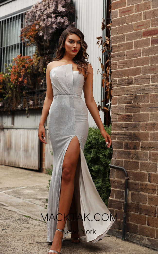 Jadore JX3002 Silver Front Dress