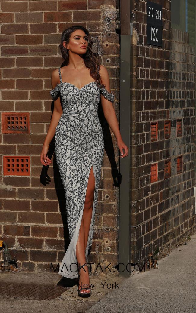 Jadore JX3005 Silver Front Dress