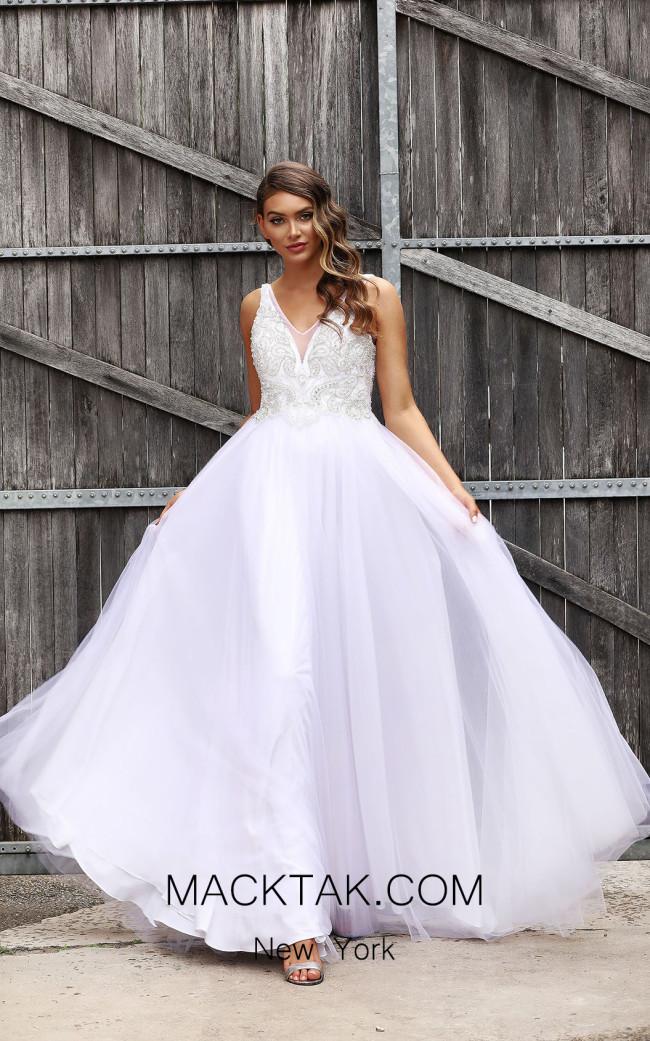 Jadore JX3037 White Front Dress