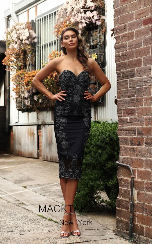 Jadore JX3039 Black Front Dress