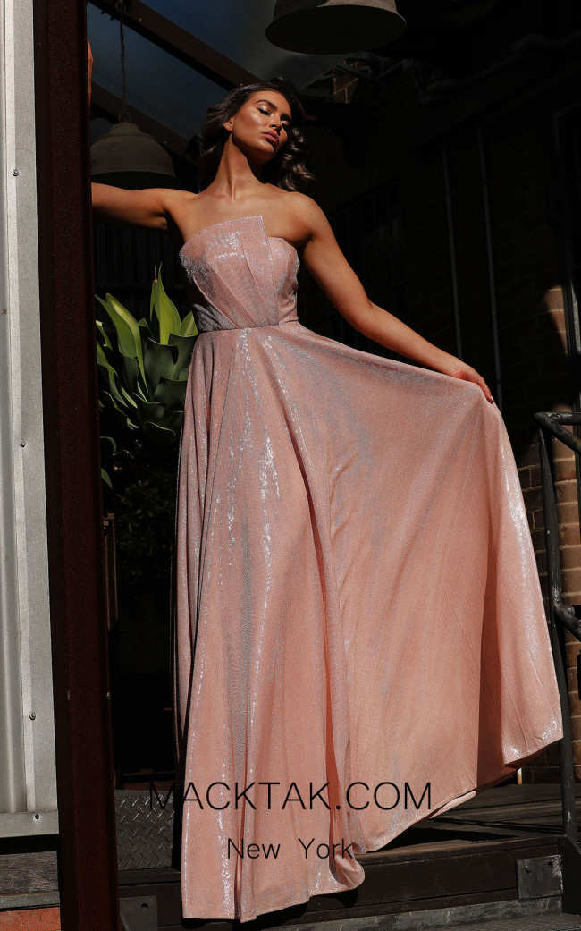 Jadore JX3044 Pearl Pink Front Dress