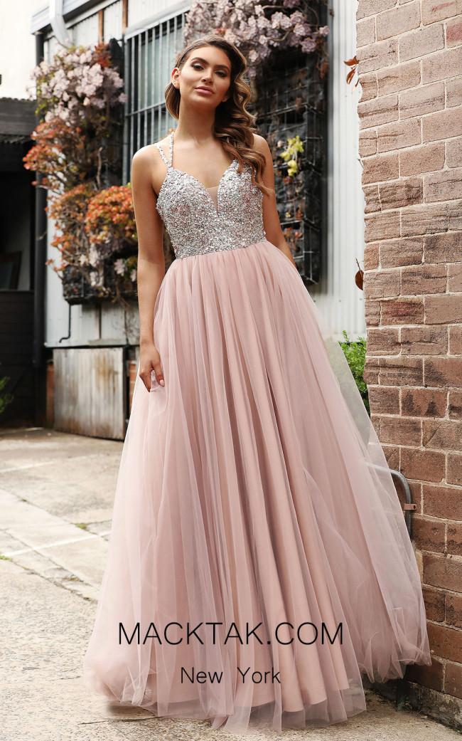 Jadore JX3047 Dusty Pink Front Dress